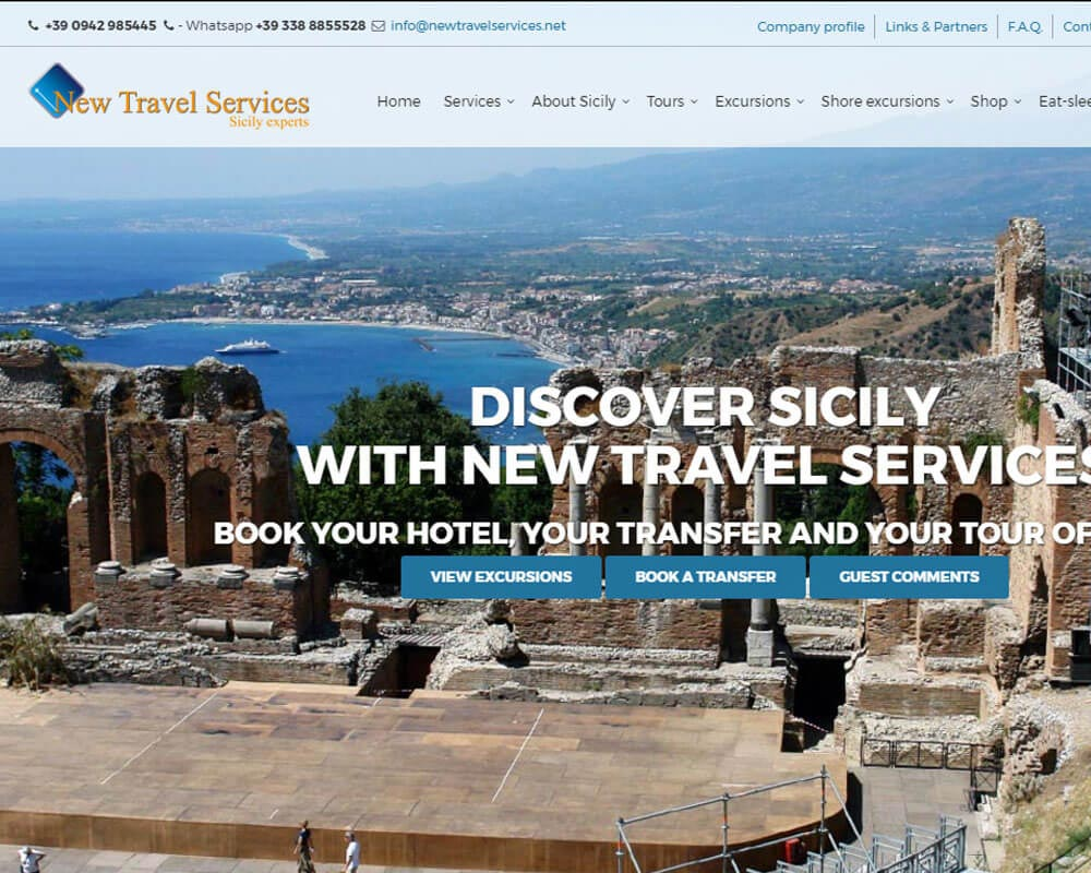 New Travel Services - Sito web