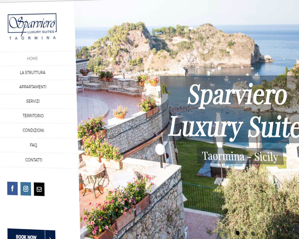 Sparviero Luxury Suites Taormina - Sito web