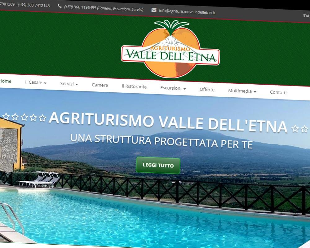 Agriturismo Valle dell'Etna - Sito web