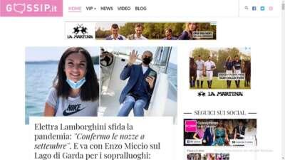 Home page sito web gossip Gossip.it