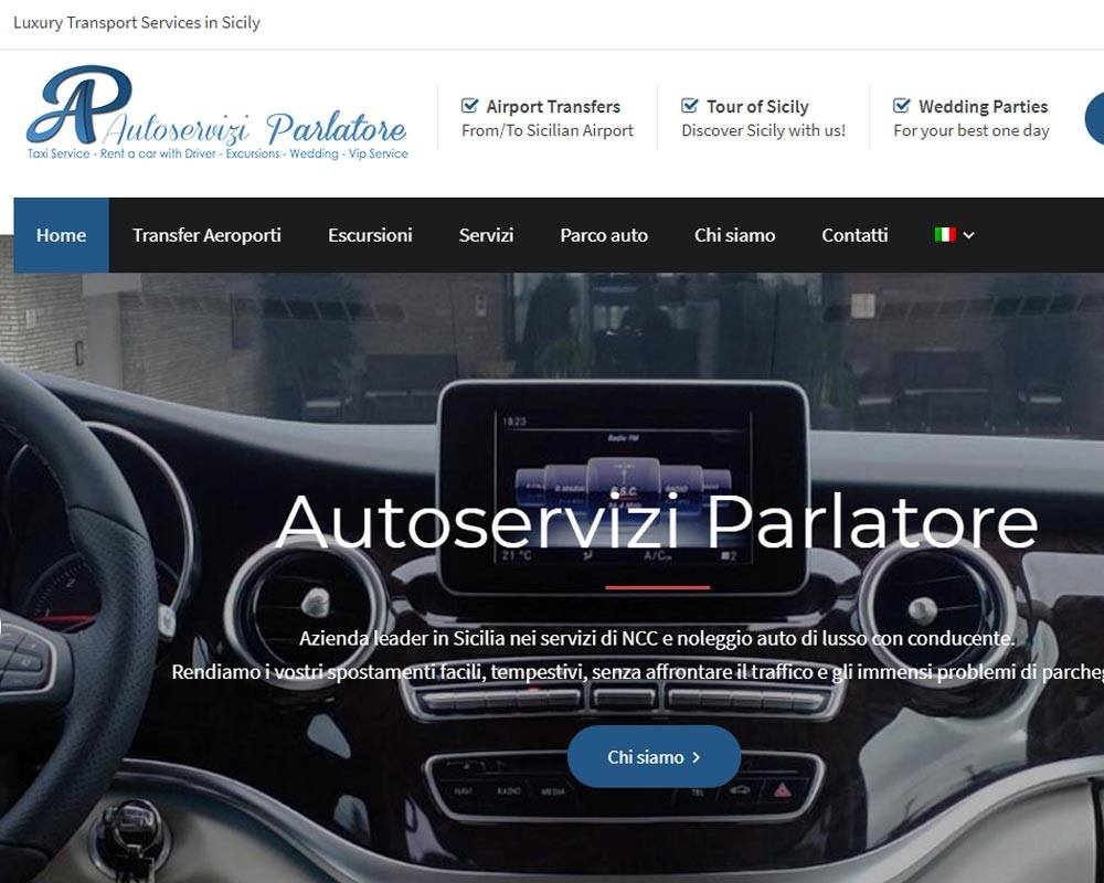 Autoservizi Parlatore, luxury transport services in Taormina, Sicily - Sito web