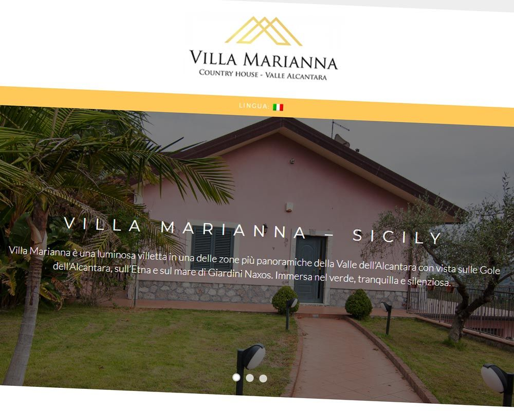 Villa Marianna, country house - Valle Alcantara - Sito web, logo, social marketing