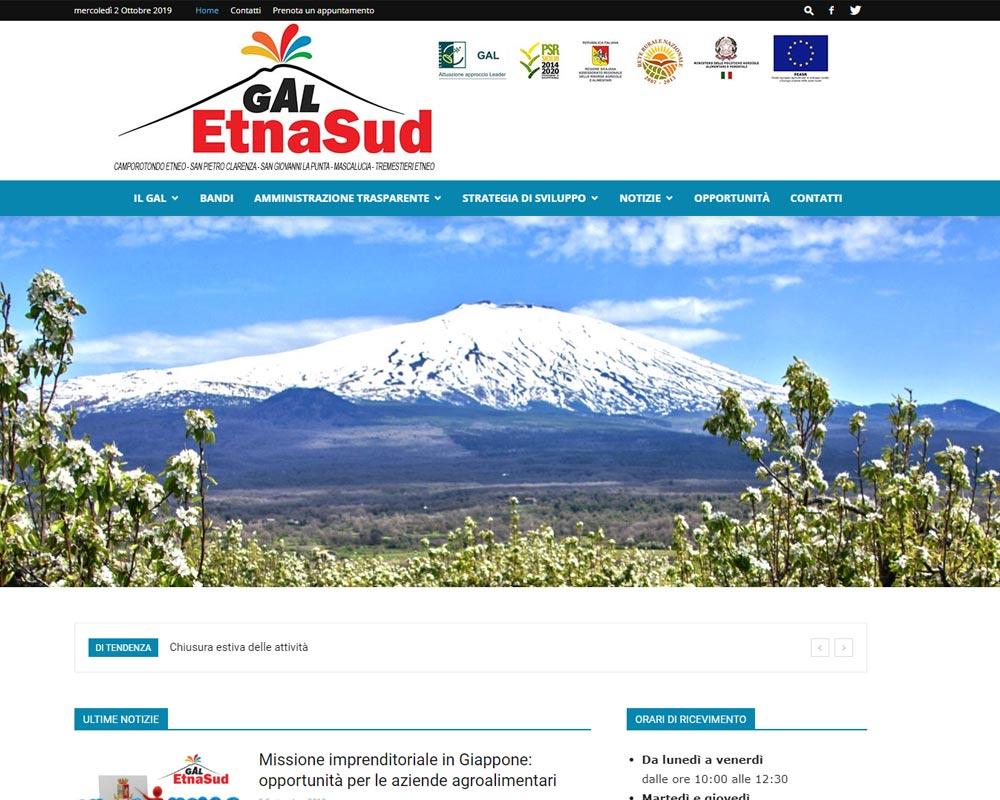 Sito web GAL EtnaSud - Sviluppo eco-sostenibile dei Comuni a Sud dell'Etna.